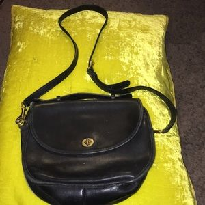 Coach leather crossbody vintage black